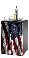 US Rock Flag 1 Kegerator / Mini Fridge Wrap