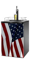 US Flag 1 Kegerator / Mini Fridge Wrap