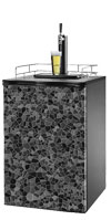 Black Cobble Stone Kegerator / Mini Fridge Wrap