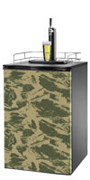 Camo 1 Kegerator / Mini Fridge Wrap