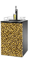 Cheetah Print Kegerator / Mini Fridge Wrap