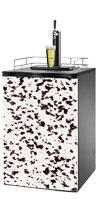 Dalmation Print Kegerator / Mini Fridge Wrap