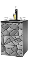 Gray Stone Kegerator / Mini Fridge Wrap