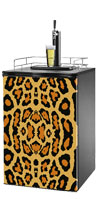 Leopard Print Kegerator / Mini Fridge Wrap