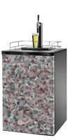Multi Colored Cobble Stone Kegerator / Mini Fridge Wrap