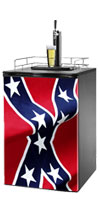 Rebel Flag Kegerator / Mini Fridge Wrap