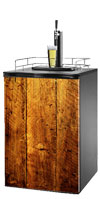 Rough Wood Kegerator / Mini Fridge Wrap