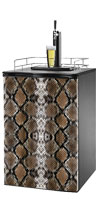 Snake Skin Print Kegerator / Mini Fridge Wrap