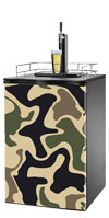 Tan Camo Kegerator / Mini Fridge Wrap