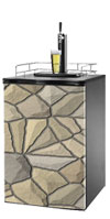 Tan Stone Kegerator / Mini Fridge Wrap