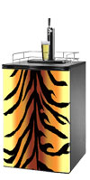 Tiger Print Kegerator / Mini Fridge Wrap