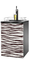 White Tiger Print Kegerator / Mini Fridge Wrap
